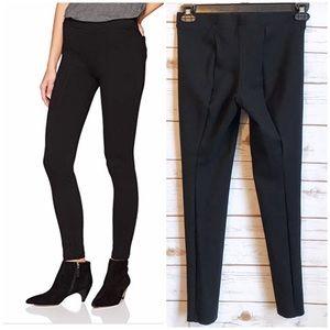 Crown & Ivy Black Ponte Seamed Legging Pants Sz S